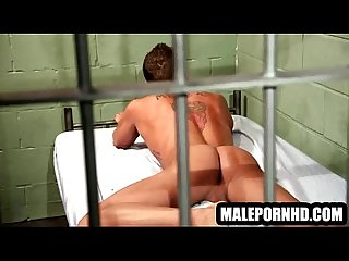 Hot stud in masturbating in his jail cell