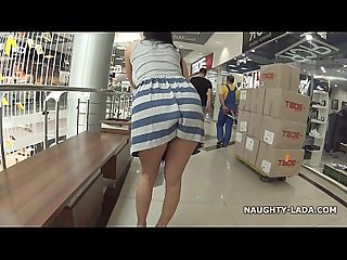Naughty in a mall