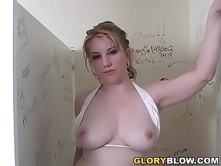 Gloryhole Blowjob - Heather Summers