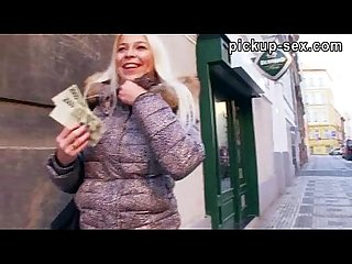 Pretty blonde czech girl karol pounded for some cash