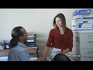 Boss explores secretaries tight butt