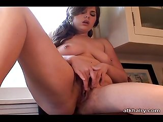 Marley Mason masturbates on a kitchen counter