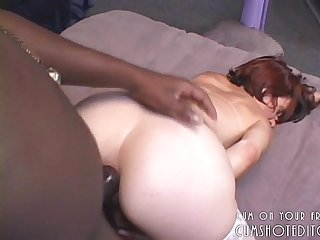White Amateur Milf enjoying her Ass filled