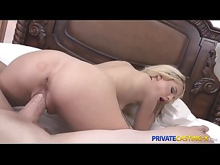 Private Casting X - Blonde Kenzie Reeves fucks better than sings