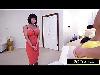 MILF Veronica Avluv & Babysitter Megan Rain Give Lucky Guy Sloppy Double Blowjob