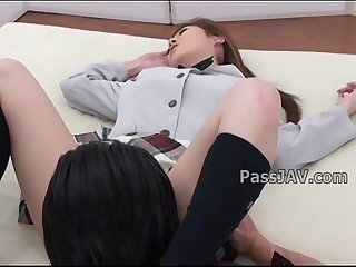 Lovely japanese angel aya sakaki in schoolgirl uniform has her pussy inspected