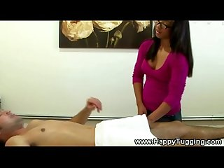 Asian masseuse gets dirty on client