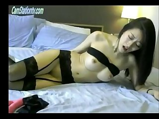 Gorgeous korean girl ohmibod torture in lingerie CamStationtv.com