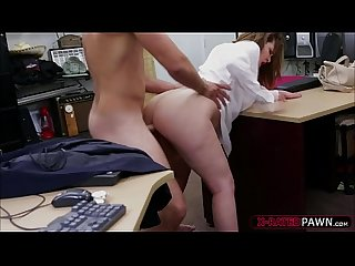 Beautiful and a busty cooz gets her hammered by shawn in his office