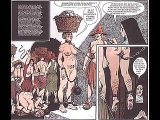 Vintage breast fetish bondage comic