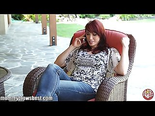 Mommybb nikki hunter jumps on A young boy s dick