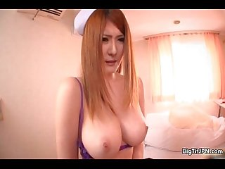 Sexy big tits babe from japan showing
