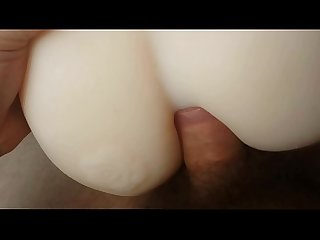 My boyfriends nice dick fucking his tight little toy