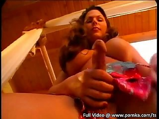 horny tranny gets assfucked in this threesome
