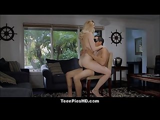 Hot Teen Stepdaughter Tricks Daddy Gets Creampie