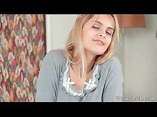 Great sexy hot body nice cute blonde