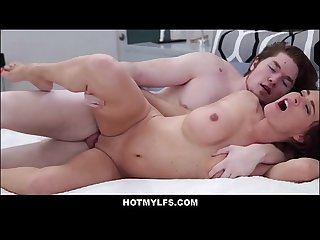 Horny Big Tits MILF Seduces Big Dick Pool Boy