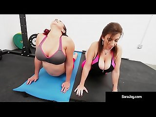 Sara jay gia love angelina castro do some lesbian yoga