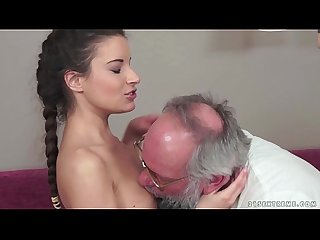 Teenie anita bellini gets fucked by a grandpa