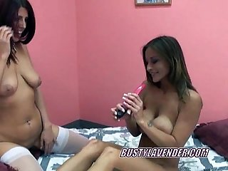 Busty leeanna sharing her toys with a horny slut