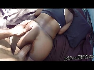 Ebony woman sucking big black cock