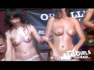 Amateur girlfriends get naked in wet t shirt contest compilation 6