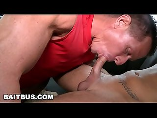 BAIT BUS - The Rock Tricks Cody Robbinson Into Having Gay Sex