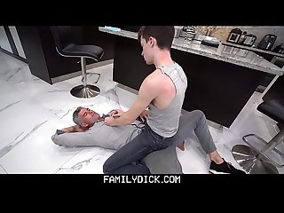 FamilyDick - Hot Stepdad Fucks His Boy After A Wrestling Lesson