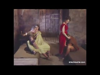 Cleare and jyulia Dp orgy with the gladiators in the cell