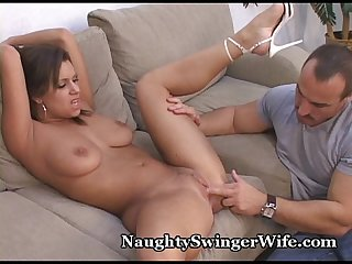 Wifey sucks fucks new guy