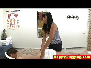 Deepthroating asian masseuse spoils client