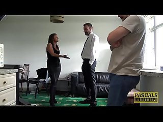 Hardfucked subslut disciplined by Pascals fat cock