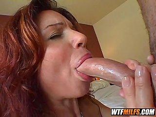 Horny redhead milf has a creamy pussy 2 003