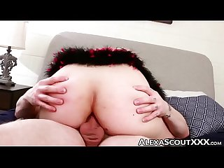 Tbabe Alexa Scout riding after big cock deepthroat