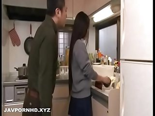 Japanese father force fuck school going daughter