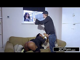 Horny Ebony Real Estate MILF Jasmine Webb Likes to Fuck Her Male Clients