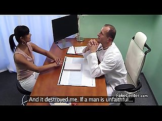 Hot milf sucking doctors cock