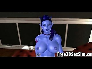 Sexy 3d cartoon avatar aliens doing the deed