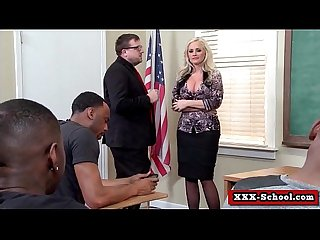 Big tit teacher fucked by student in classroom 01