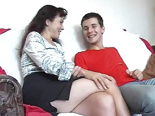 Russian mature mom alena giving ass to a younger boy