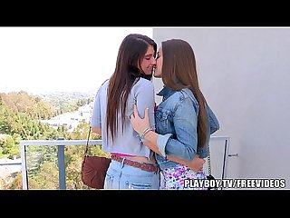 Sexy lesbian teens show their love