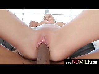Christie Stevens blonde milf ride black cock in sex tape
