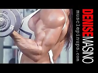 Denise masino sexy bicep workout