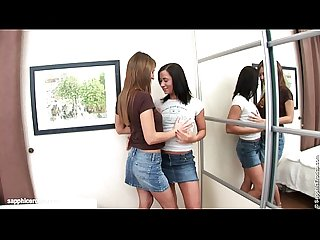Lesbian fingering action on Sapphic Erotica with Alla and Kelsie