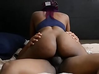 Dick riding black ebony queen