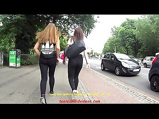 See through thongs on 2 young teens vpl vtl