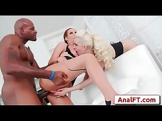 Sexy big tit milfs Phoenix Marie, Cherry Torn share massive black cock anally