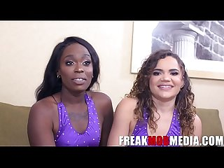 Bellah Dahl and Naudi Nala Ebony Pornstars Interview with FreakMob