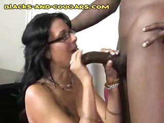 Black stud plows hot cougar