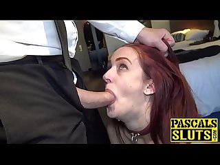 Redhead Andi Dye stretched with maledom cock and cumshot